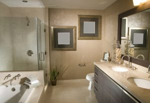 Large remodeled bathroom